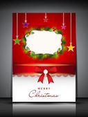 Merry Christmas greeting card, gift card or invitation card. EPS — Stock Vector