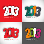 Stylized 2013 Happy New Year background. EPS 10 — Stock Vector