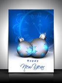 Blahopřání nebo dárkové karty pro šťastný nový rok oslava. EPS 10 — Stock vektor
