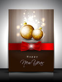 Greeting card or gift card for Happy New Year celebration. EPS 1 — Vetorial Stock