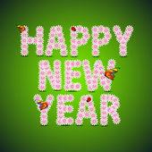 Cartão ou cartão-presente para a celebração do ano novo. Eps 1 — Vetor de Stock