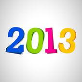 Stiliserade 2013 glad Nyåren bakgrund. Eps 10 — Stockvektor
