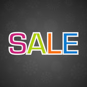 SALE poster, flyer template or banner design. EPS 10. — Stock Vector