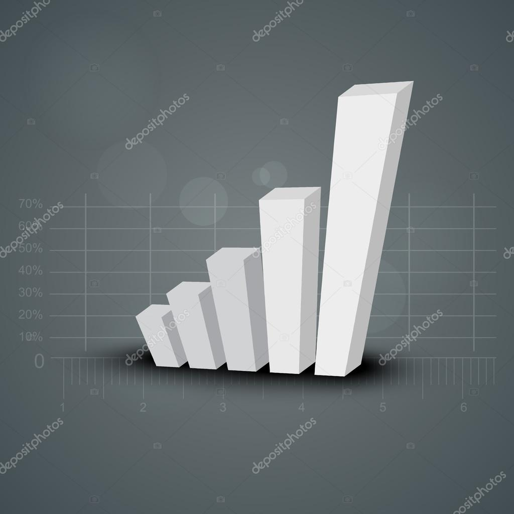 Abstract 3D statistics background, Business concept. EPS 10.  — Stock Vector #14975237