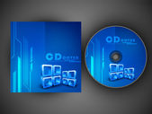 Stilisierte cd cover design-vorlage. eps 10. — Stockvektor