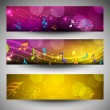 Musical website headers or banners. EPS 10. — Stock Vector #15183037