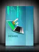 Profesyonel iş ilanı şablonu veya şirket banner tasarımı, — Stok Vektör