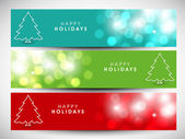 Happy holidays website headers or banners. EPS 10. — Stock Vector