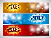 2013-neujahr-website-header oder banner. eps 10. — Stockvektor