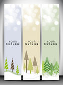Happy Holidays website banners. EPS 10. — Stock Vector