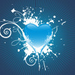 Retro design heart with grunge elemen — Stock Vector #1525449