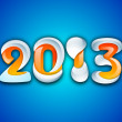 Stylized 2013 Happy New Year background. EPS 10 . — Imagens vectoriais em stock