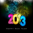 Stylized 2013 Happy New Year background. EPS 10 . — Vettoriale Stock  #15208783