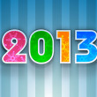 Stylized 2013 Happy New Year background. EPS 10 . — Vector de stock  #15208807
