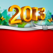 Stylized 2013 Happy New Year background. EPS 10 . — ストックベクタ
