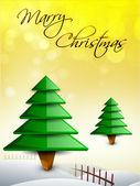 Beautiful Xmas tree for Merry Christmas celebration. EPS 10. — Vetor de Stock