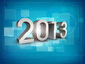 Stylized 2013 Happy New Year background. EPS 10 . — Stock Vector