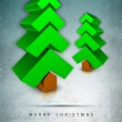Merry Christmas greeting card, gift card, invitation card or bac - Stok Vektör