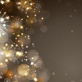美丽的雪花背景为快乐圣诞庆祝活动的. — 图库矢量图片