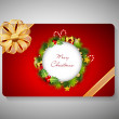 Gift card for Merry Chrsitmas. EPS 10. — Stock Vector