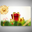 Gift card for Merry Chrsitmas. EPS 10. — Vector de stock