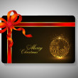 Gift card for Merry Chrsitmas. EPS 10. - Stockvectorbeeld