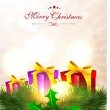 Royalty-Free Stock Vector Image: Merry Christmas greeting card, gift card or invitation card. EPS