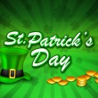 St Patrick's Day background. EPS 10. — Stok Vektör