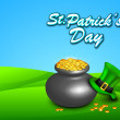 Stock Vector: St Patrick's Day background. EPS 10.