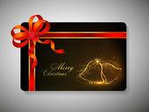 Gift card for Merry Chrsitmas. EPS 10. — Stock Vector
