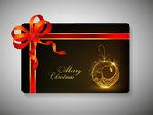 Cartão de presente para chrsitmas feliz. eps 10. — Vetor de Stock