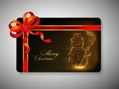Gift card voor vrolijke chrsitmas. Eps 10. — Stockvector