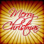 Merry Christmas, Vintage Card. EPS 10. — Stock Vector