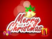 圣诞快乐,复古卡。10 eps. — 图库矢量图片