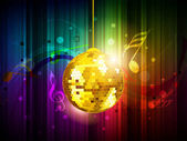 Musical party background. EPS 10. — Stock Vector