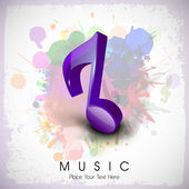 Musical notes. can be use as banner, tag, icon, sticker, flyer o — Stock Vector