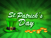 St Patrick's Day background. EPS 10. — Stock Vector