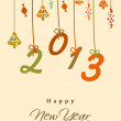 2013 Happy New Year. EPS 10. - Stock Vector