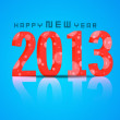 2013 Happy New Year. EPS 10. — Imagen vectorial