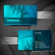 Abstract professional and designer business card template or vis — Stock Vector #16948301