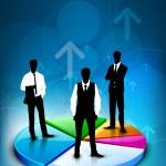 bureaux le graphique à secteurs, abstrait. EPS 10 — Vecteur