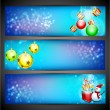 Website headers and banners set for Happy New Year. EPS 10 — Stock Vector
