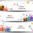 Merry Christmas website header or banner set. EPS 10. — Stock Vector #16949703