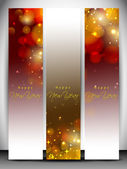 Website banners set for Happy New Year. EPS 10 — Stock Vector