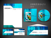 Professional corporate identity kit or business kit for your bus — Stock Vector