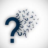 Soru işareti simgesi tasarım. eps 10. — Stok Vektör