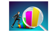 Business growth background. EPS 10. — Stock Vector