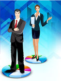 Business on pie chart, abstract background. EPS 10. — Stockvector
