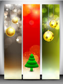 Merry Christmas website banner set. EPS 10. — Stock Vector