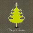 Christmas tree.Greeting card, gift card or invitation card for M - 图库矢量图片